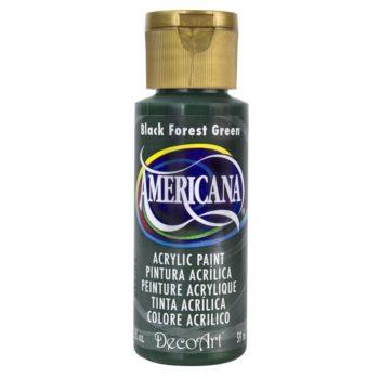 Nailart verf Americana, groen, black forest green