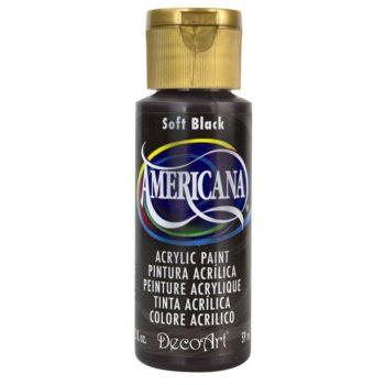 Nailart verf Americana, zwart, soft black
