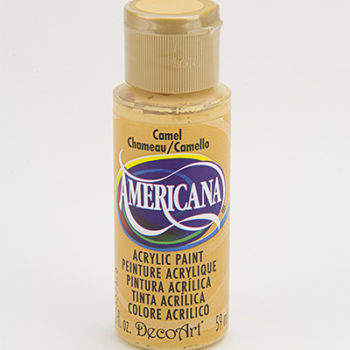 Nailart verf Americana, geel, camel