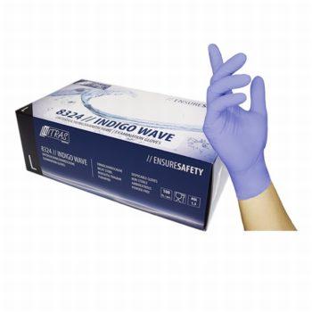 Wegwerphandschoenen nagelstyliste, maat L blauw