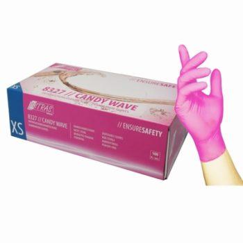 Wegwerphandschoenen nagelstyliste, maat s roze