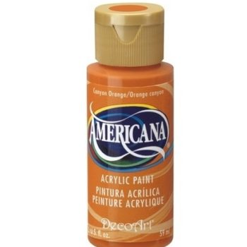 Nailart verf Americana, oranje, canyon orange