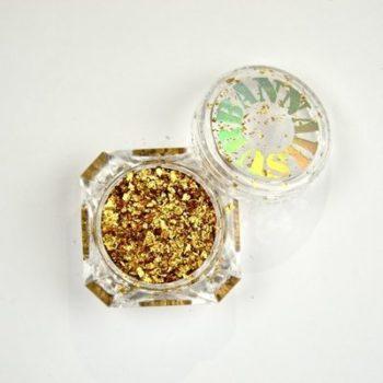 Glitter Holo Flake Gold