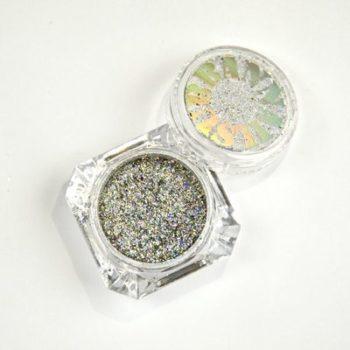 Glitter Holo Flake Silver