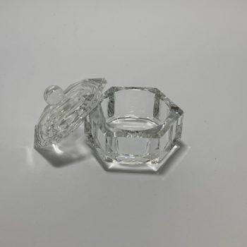 Dappendish glas, groot, met deksel