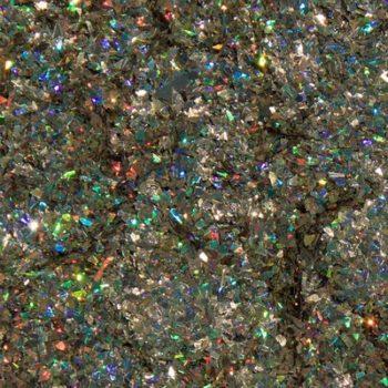 Urban Nails - Shattered Glass  10 bruin/goud Glitters