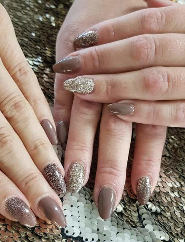Nail Art gelpolish met artiglio glitters