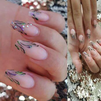 Nail Art - acryl nagel met nailart