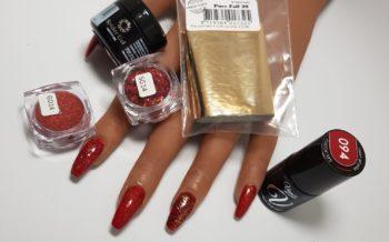 Nail Art - Rood - Goud - Kerst - Romantisch