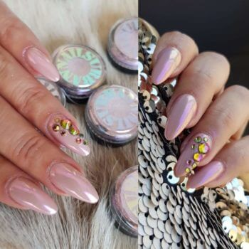 Nail Art - gelpolish met roze parelmoer