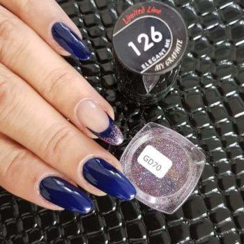 Nail Art gelpolish met fijne glitter