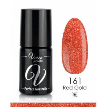 Vasco gelpolish V161 - Red Gold - Rood - Glitter